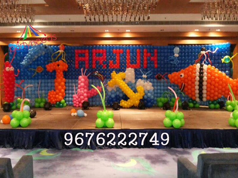 Birthday party decorations in hyderabad vijayawada for 1st birthday stage decoration
