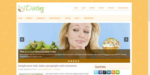 Dieting Blogger Templates