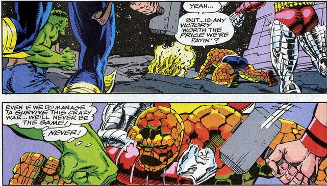 Fantastic Four 370 Thing Ben Grimm blubberin' time