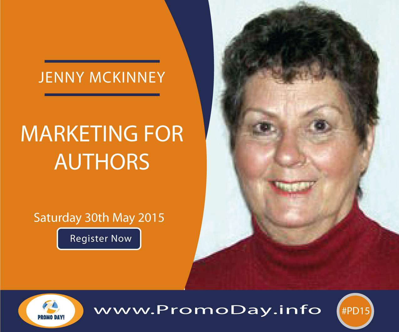 "#PD15 Webinar: ""Marketing for Authors"" with Jenny McKinney, www.PromoDay.info"