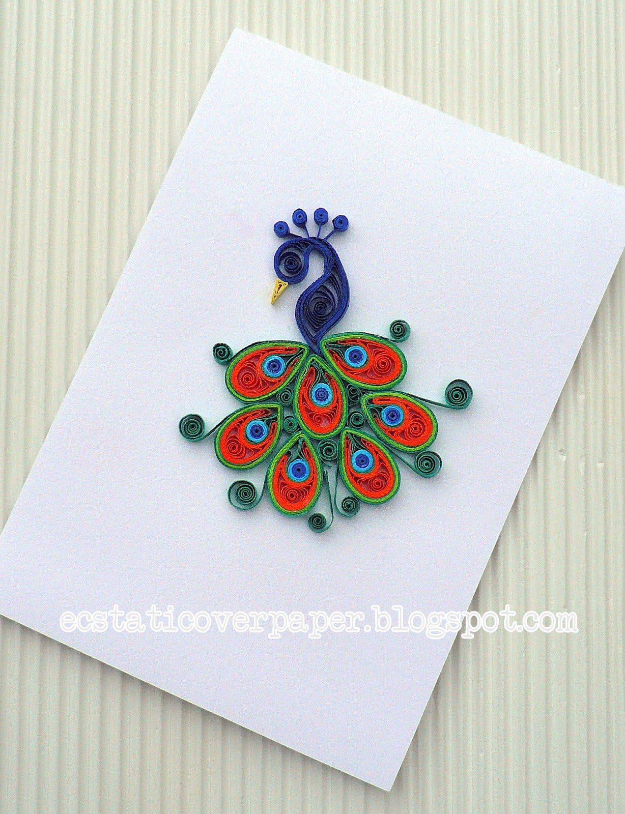 Pretty peacock ecstatic over paper for How to quilling designs