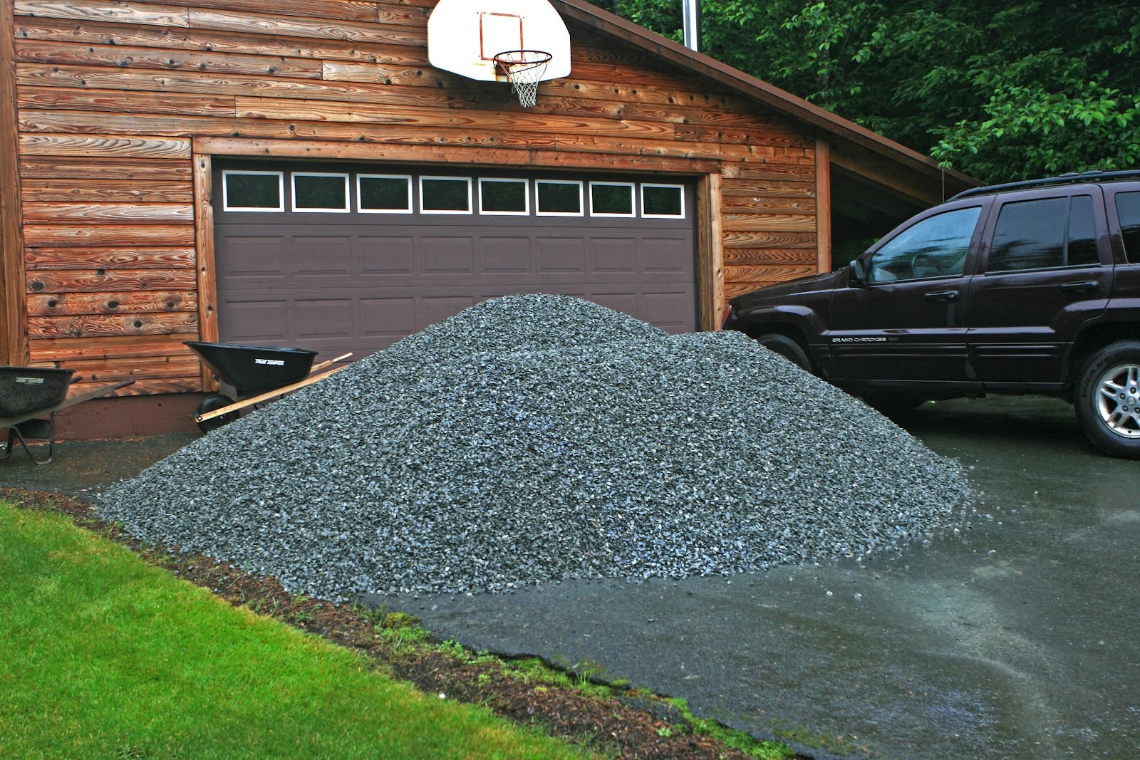 How much will a yard of gravel cover insured by laura for Landscaping rocks by the ton