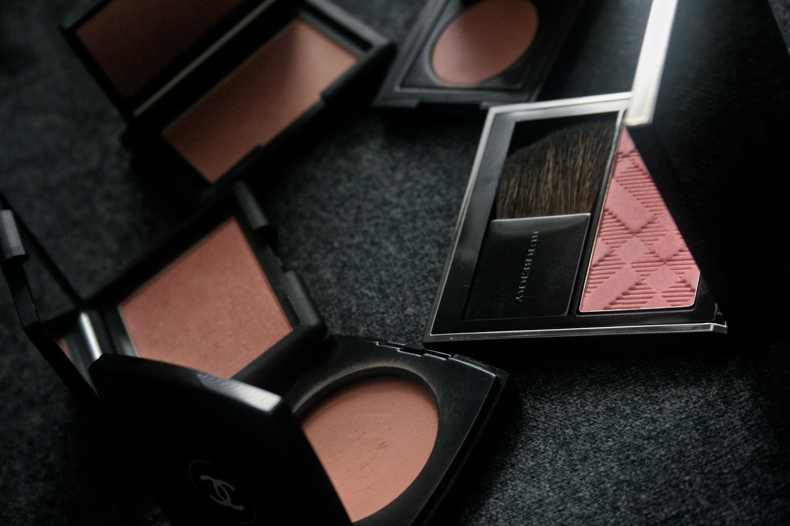 Favorite Blushes for Fall 2014 for medium dark skintones from burberry, laura mercier, nars and chanel