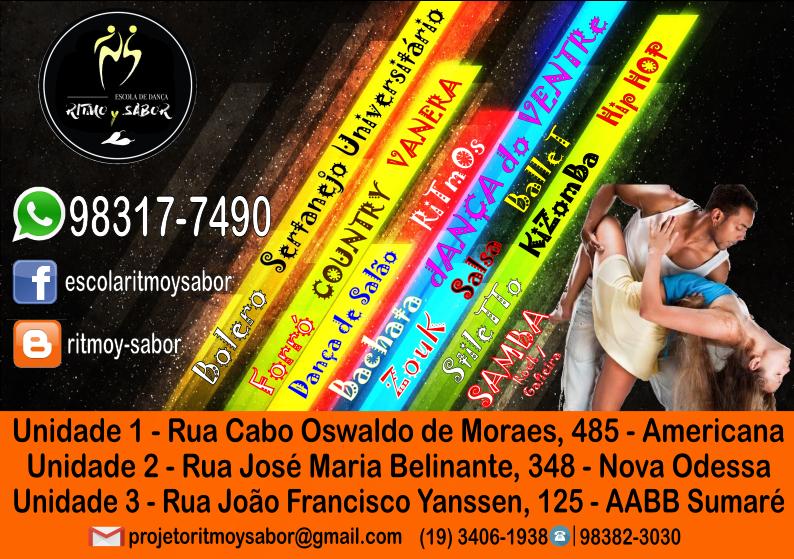 Escola de Dança Ritmo y Sabor  - Cursos de Dança de Salão, Ritmos a Dois, Sertanejo e Eventos...