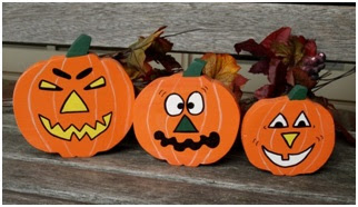 Jack-o'-lanterns Halloween crafts 