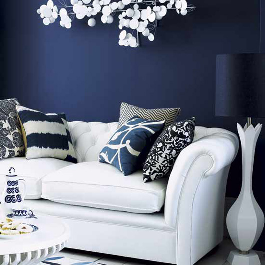 connecting the polka dots on decorating in the navy