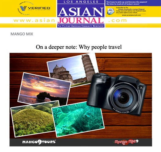 Mango Mix: On a deeper note: Why people travel