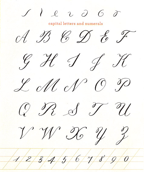 cursive writing abc