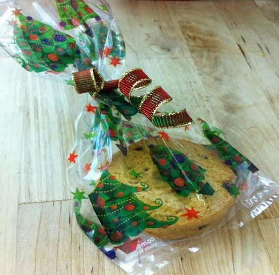 Saquinhos de Natal com biscoitos