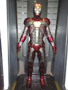 Iron Man Mark V briefcase suit on display (ironman markv briefcase suit)
