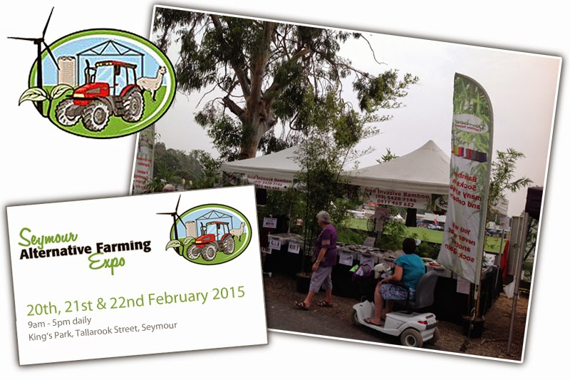 Bamboo Creations Victoria at Seymour alternative farming expo in February 2015
