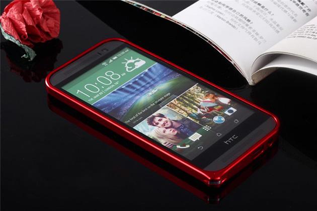 Bumper M8 จาก Hanshen ของแท้ แถมฟิล์มกันรอยแท้ฟรี รหัสสินค้า 108013 สีแดง