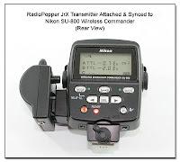 RadioPopper JrX Attached to SU-800 (Rear View)
