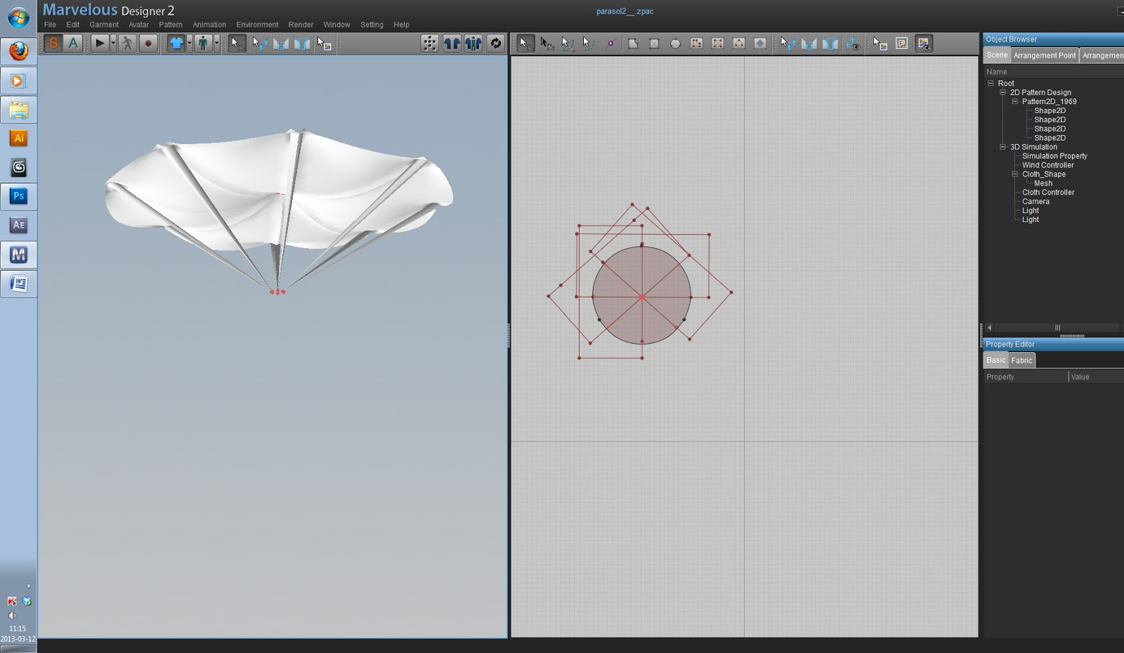 Marvelous Designer tutorial: Modeling an Umbrella   CG TUTORIAL