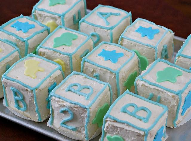 Baby Block Cake Images : Marzipan: Baby Block Mini-Cakes