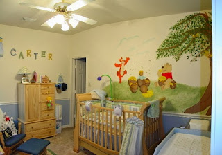 awesome nursery decorate winnie the pooh