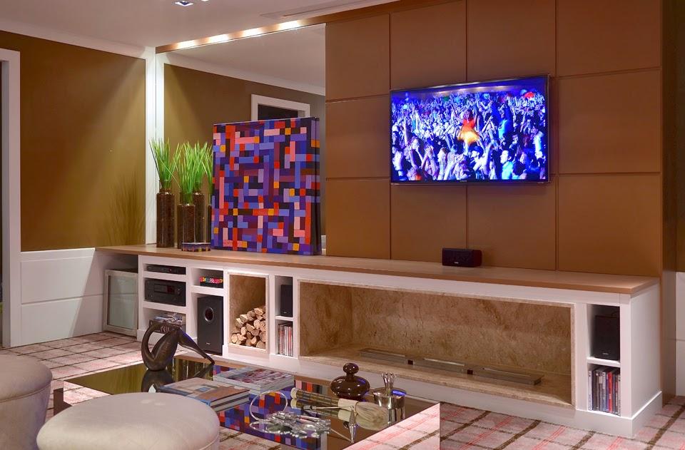 Sala De Tv Com Quadro ~ painelparatvsalamodelosdecoração3png