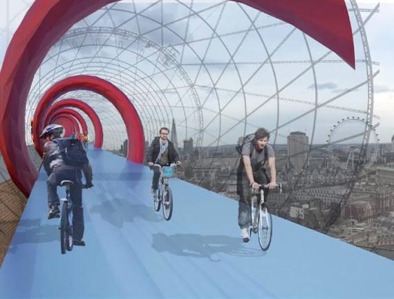 Sky Cycles - piste pentru biciclisti in cerul Londrei