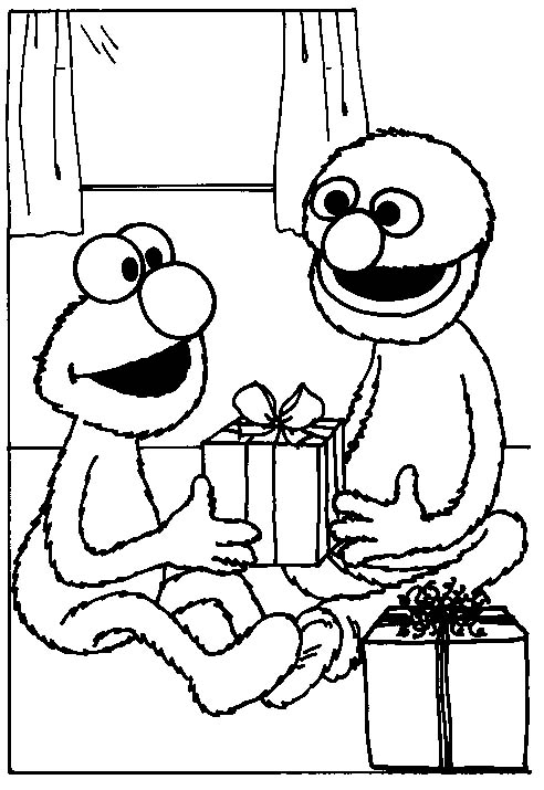 Birds And Elmo Coloring Page Pictures to Pin on Pinterest - PinsDaddy