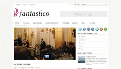 fantastico free blogger template