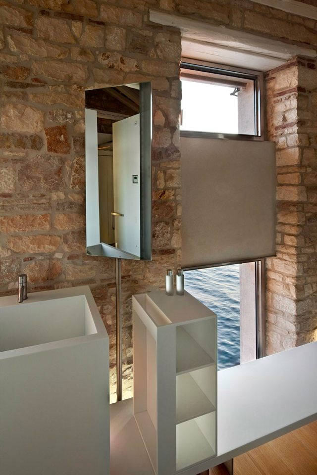 Modern bathroom furniture in the Amazing Contemporary Style Home In Croatia