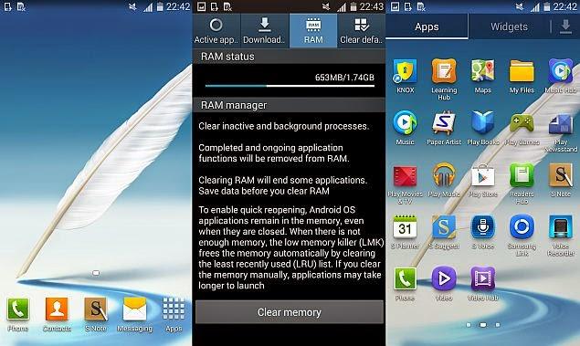 Samsung Galaxy Note II pembaruan Android 4.4.2 KitKat