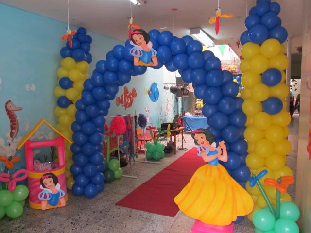 Fiesta tematica princesa disney blanca nieves fiestas - Decoracion fiesta princesas disney ...