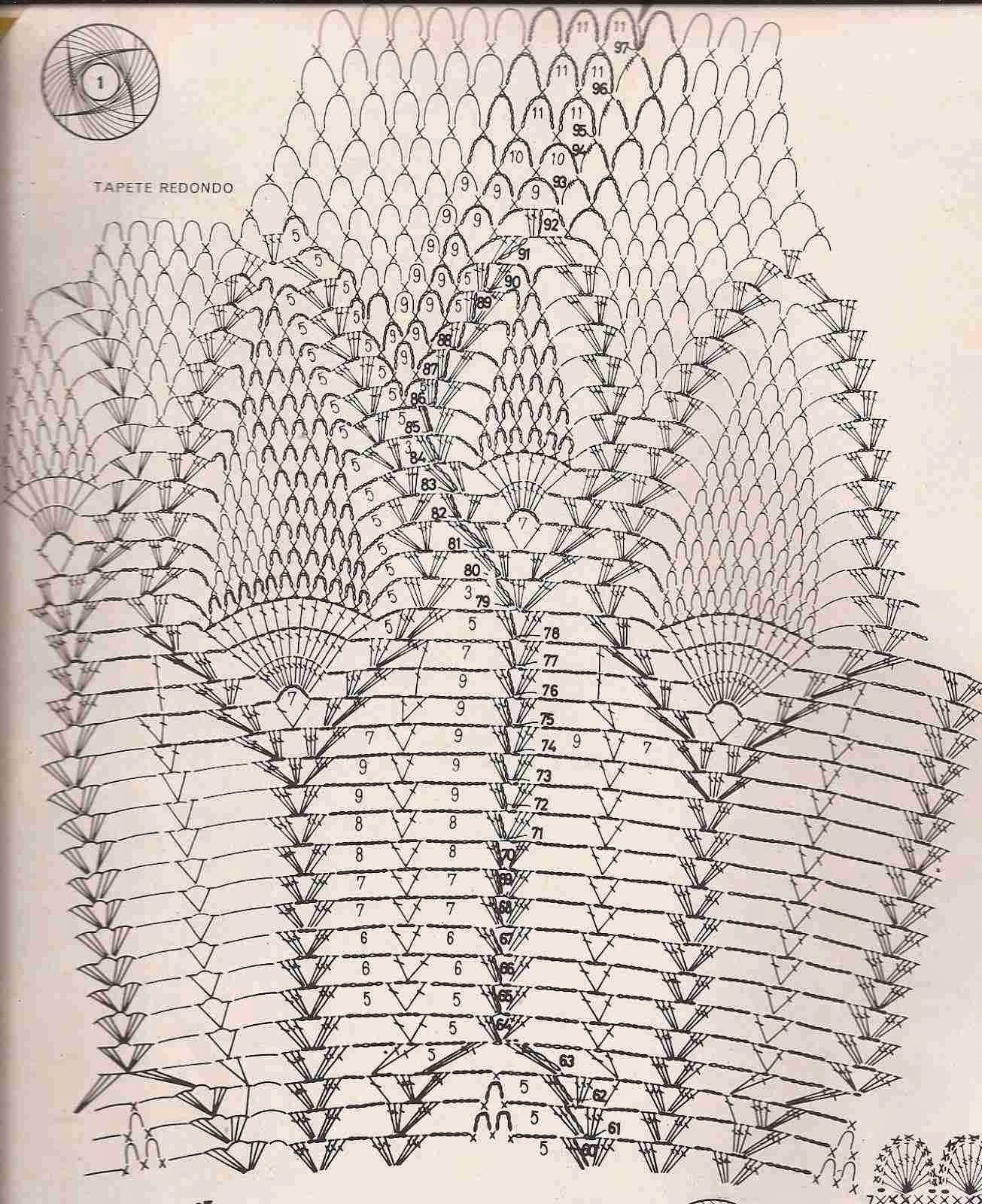#1 Tapete Redondo a Crochet