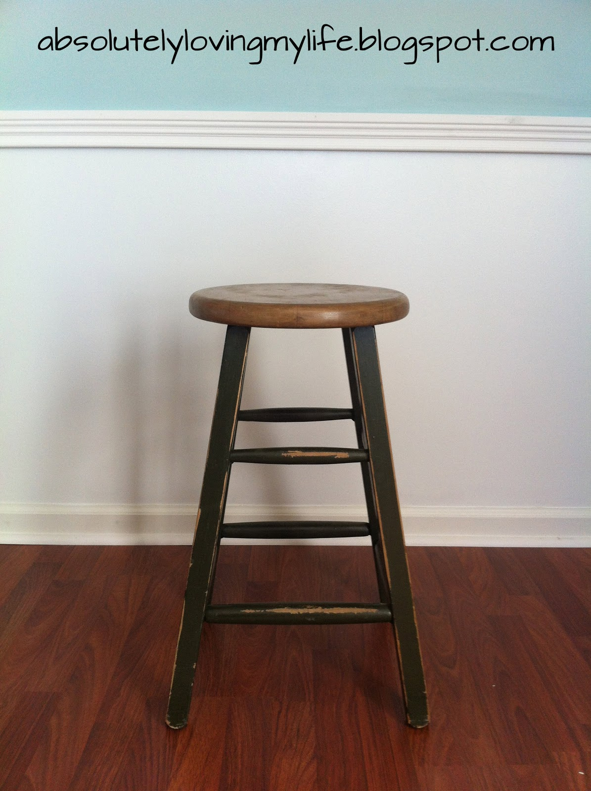 Loving Life Ordinary Bar Stool Repurposed Rope End Table