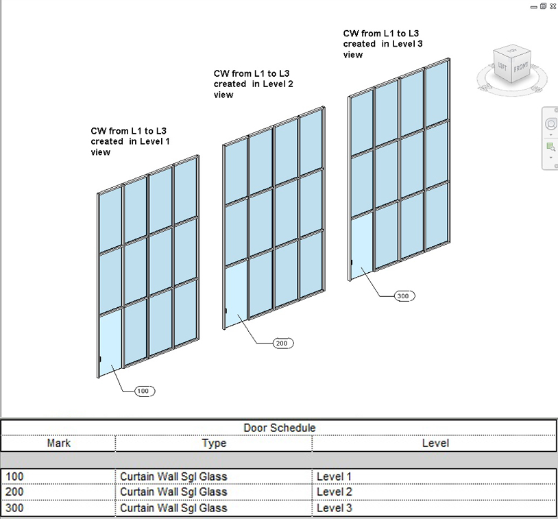 Curtain Wall Doors How To Schedule Host Levels  sc 1 st  dp Stuff & Revit Curtain Wall Doors - Scheduling Host Level... Heads Up