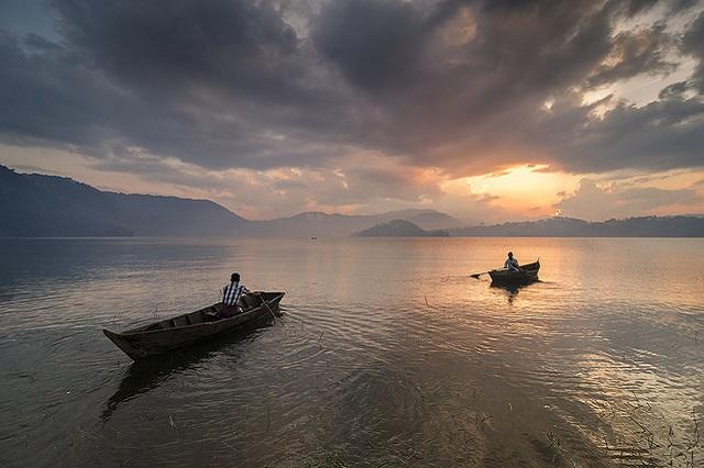 Sunset view at Umiam Lake