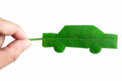 Car shaped leaf,green cities
