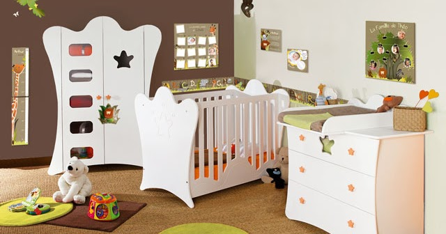 chambre b b animaux de la jungle. Black Bedroom Furniture Sets. Home Design Ideas