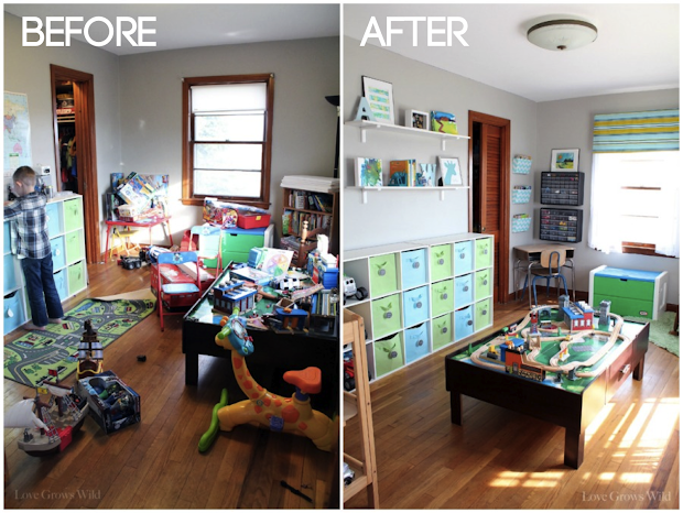 Kids Playroom Before and After