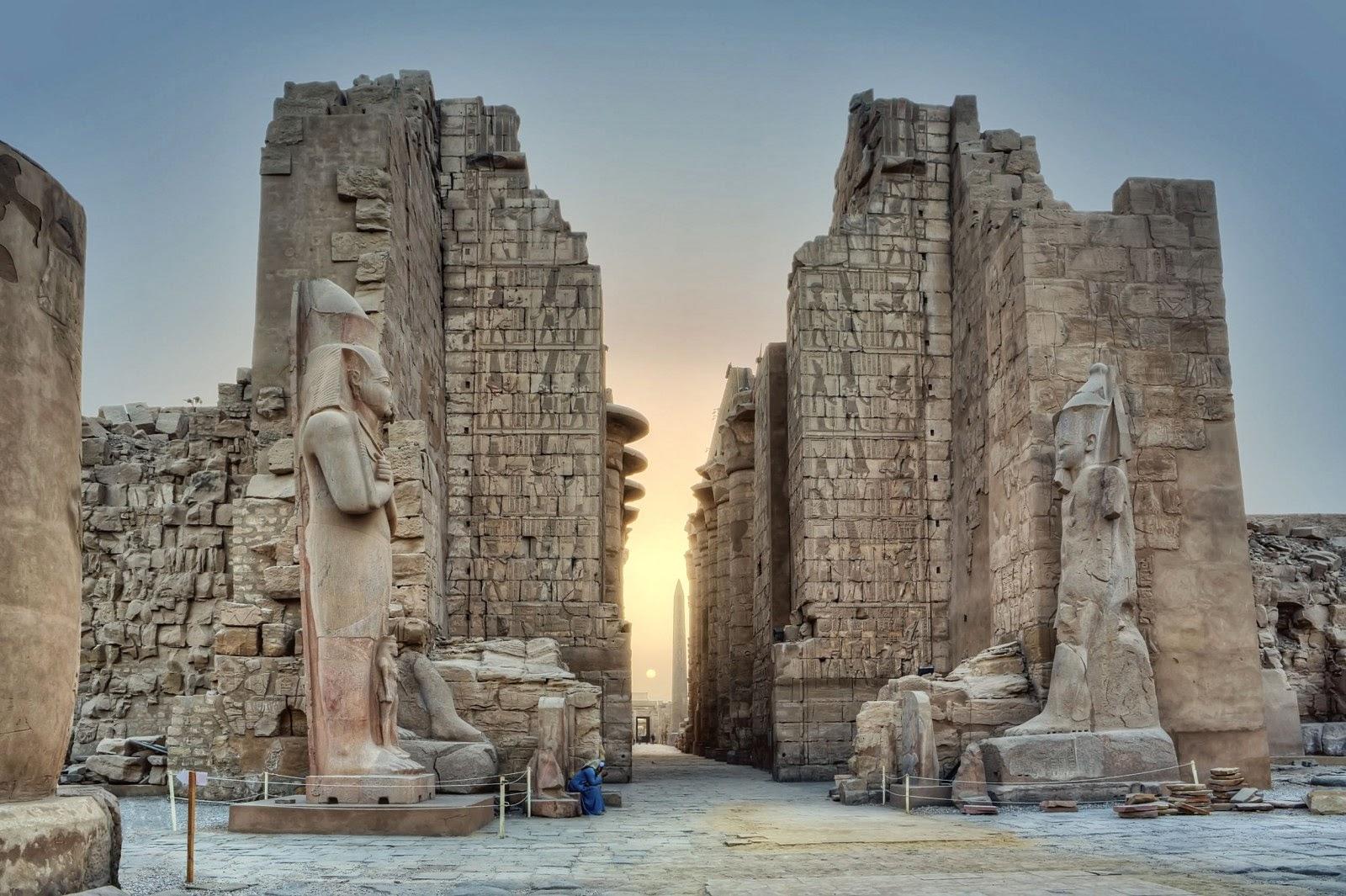 Karnak templet, Luxor, Egypten