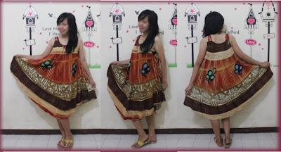 batik pekalongan dress tali motif kupu
