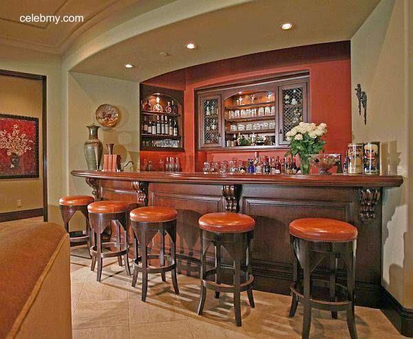 Arquitectura de casas sillas para la barra de tragos en - Barras de bar para casas ...
