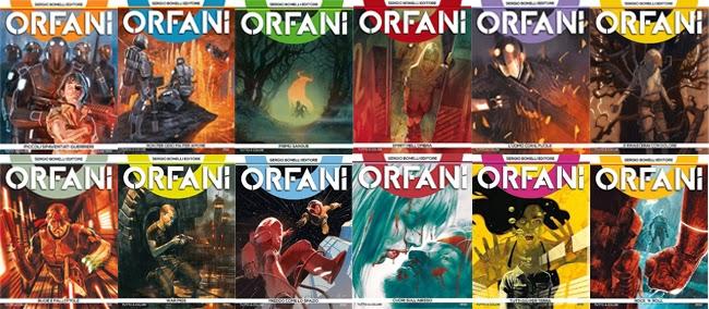 sergio bonelli editore orfani prima serie tutte le copertine cover di  carnevale