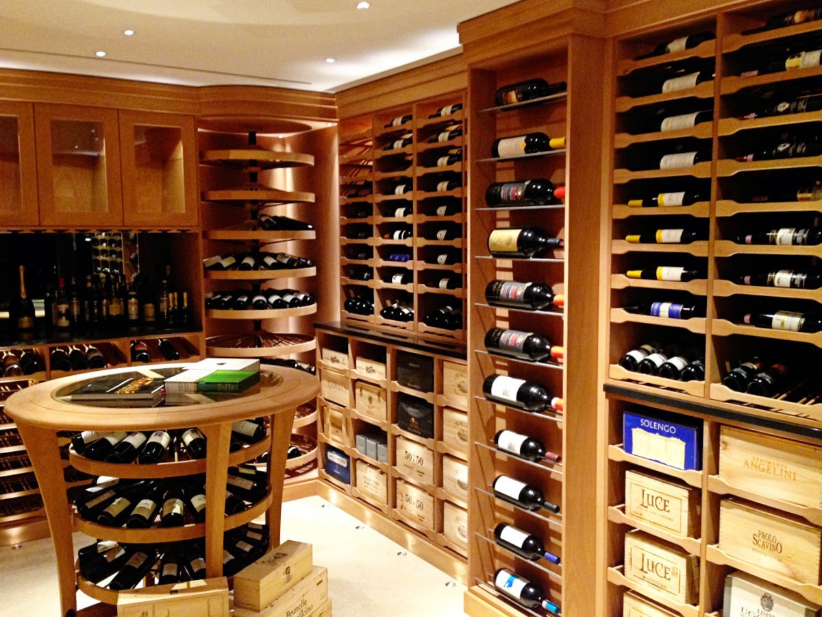 The picture above was done by Revel Wine cellars and it's just gorgeous.  Note the wine crate cubbies below the racks to the right.