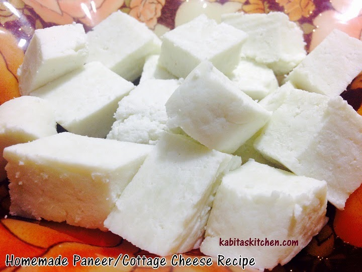 Kabita's Kitchen: How to Make Paneer or Indian Cottage Cheese at Home