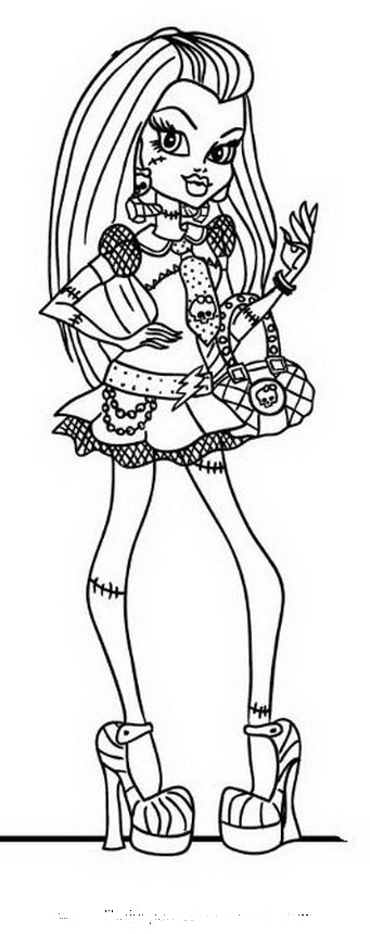Dibujo De La Monster High Franki Stein Para Colorear E Imprimir