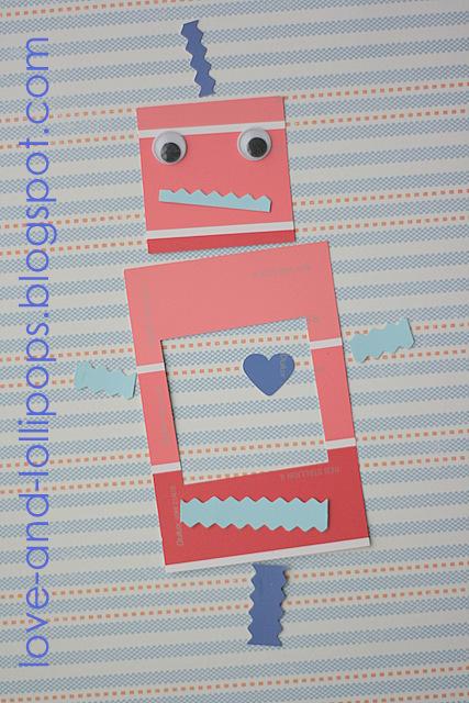 love and lollipops paint chip robots. Black Bedroom Furniture Sets. Home Design Ideas