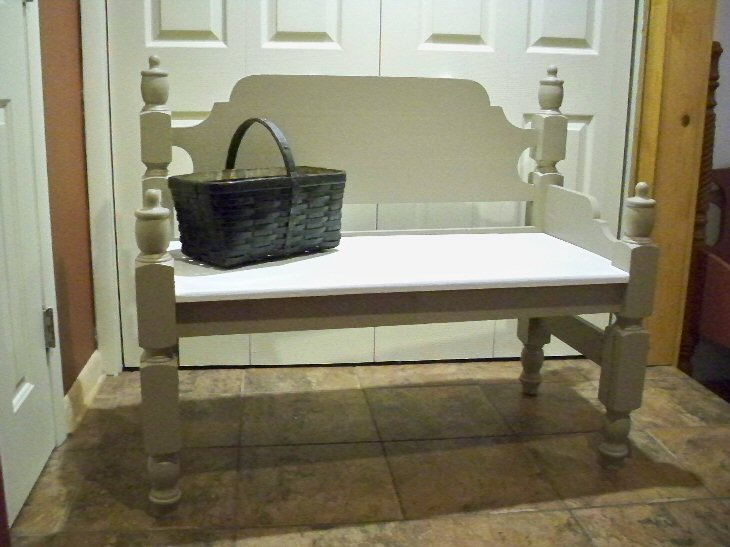 FOR SALE - cottage style antique repurposed bench