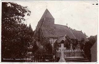 Vintage postcard of Hollington, the Church in the Wood, Sussex