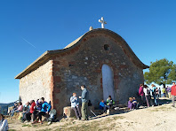 La façana d'accés orientada al nord-est de l'ermita de Sant Antoni