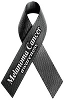 Melanoma ribbon [black]