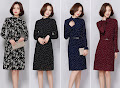 4-Design High Neck Elastic OL Dress