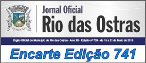Encarte Jornal Oficial Edição 741