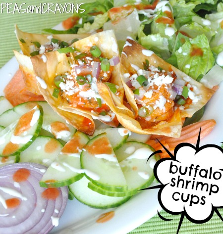 Buffalo Shrimp Won-ton Cups!
