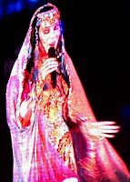 Cher performing in Russia